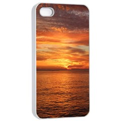 Sunset Sea Afterglow Boot Apple iPhone 4/4s Seamless Case (White)