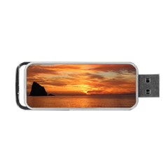 Sunset Sea Afterglow Boot Portable USB Flash (One Side)