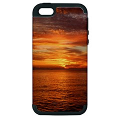 Sunset Sea Afterglow Boot Apple iPhone 5 Hardshell Case (PC+Silicone)