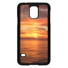 Sunset Sea Afterglow Boot Samsung Galaxy S5 Case (Black)