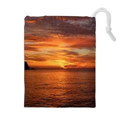 Sunset Sea Afterglow Boot Drawstring Pouches (Extra Large)