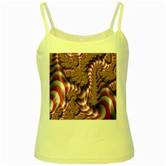 Fractal Abstract Red White Stripes Yellow Spaghetti Tank