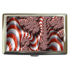 Fractal Abstract Red White Stripes Cigarette Money Cases