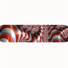 Fractal Abstract Red White Stripes Large Bar Mats