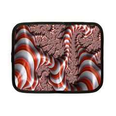 Fractal Abstract Red White Stripes Netbook Case (Small)