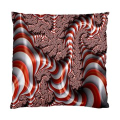 Fractal Abstract Red White Stripes Standard Cushion Case (One Side)
