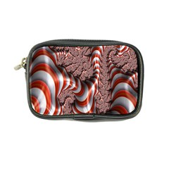 Fractal Abstract Red White Stripes Coin Purse