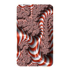 Fractal Abstract Red White Stripes Memory Card Reader