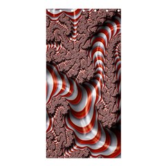 Fractal Abstract Red White Stripes Shower Curtain 36  x 72  (Stall)