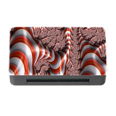 Fractal Abstract Red White Stripes Memory Card Reader With Cf