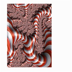 Fractal Abstract Red White Stripes Large Garden Flag (Two Sides)