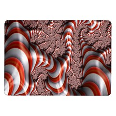 Fractal Abstract Red White Stripes Samsung Galaxy Tab 10.1  P7500 Flip Case