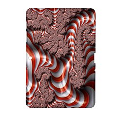 Fractal Abstract Red White Stripes Samsung Galaxy Tab 2 (10.1 ) P5100 Hardshell Case