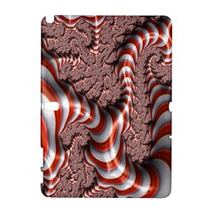Fractal Abstract Red White Stripes Galaxy Note 1