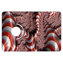 Fractal Abstract Red White Stripes Kindle Fire HDX Flip 360 Case