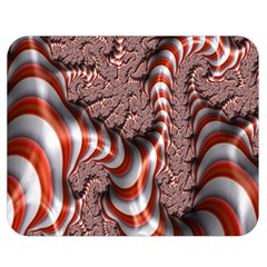 Fractal Abstract Red White Stripes Double Sided Flano Blanket (medium)