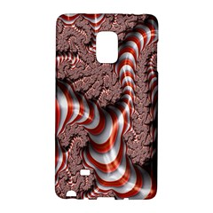 Fractal Abstract Red White Stripes Galaxy Note Edge
