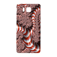 Fractal Abstract Red White Stripes Samsung Galaxy Alpha Hardshell Back Case