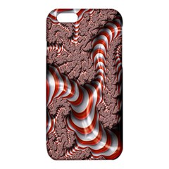 Fractal Abstract Red White Stripes iPhone 6/6S TPU Case
