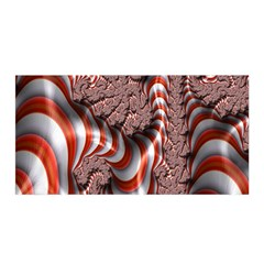 Fractal Abstract Red White Stripes Satin Wrap