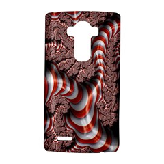 Fractal Abstract Red White Stripes LG G4 Hardshell Case