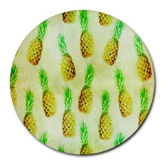 Pineapple Wallpaper Vintage Round Mousepads