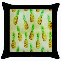 Pineapple Wallpaper Vintage Throw Pillow Case (Black)