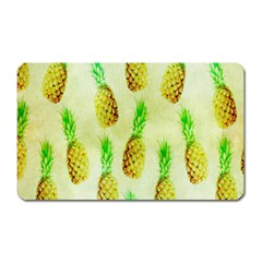 Pineapple Wallpaper Vintage Magnet (Rectangular)