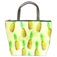 Pineapple Wallpaper Vintage Bucket Bags