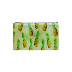 Pineapple Wallpaper Vintage Cosmetic Bag (Small)
