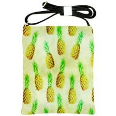 Pineapple Wallpaper Vintage Shoulder Sling Bags