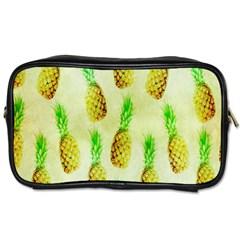 Pineapple Wallpaper Vintage Toiletries Bags