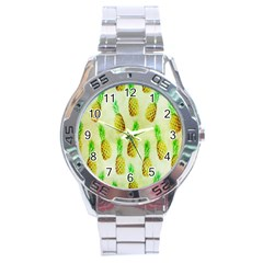 Pineapple Wallpaper Vintage Stainless Steel Analogue Watch