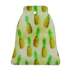 Pineapple Wallpaper Vintage Bell Ornament (Two Sides)