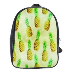 Pineapple Wallpaper Vintage School Bags (XL)