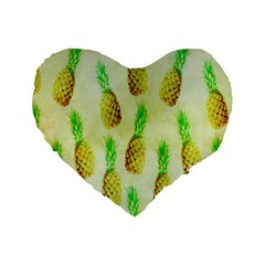 Pineapple Wallpaper Vintage Standard 16  Premium Heart Shape Cushions