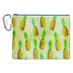 Pineapple Wallpaper Vintage Canvas Cosmetic Bag (XXL)