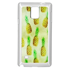 Pineapple Wallpaper Vintage Samsung Galaxy Note 4 Case (White)
