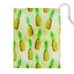 Pineapple Wallpaper Vintage Drawstring Pouches (XXL)