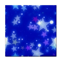 Star Bokeh Background Scrapbook Tile Coasters