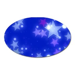Star Bokeh Background Scrapbook Oval Magnet