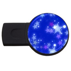 Star Bokeh Background Scrapbook USB Flash Drive Round (1 GB)