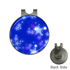 Star Bokeh Background Scrapbook Hat Clips with Golf Markers