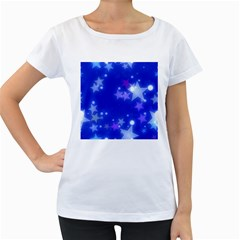 Star Bokeh Background Scrapbook Women s Loose-Fit T-Shirt (White)