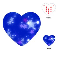 Star Bokeh Background Scrapbook Playing Cards (Heart)