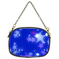Star Bokeh Background Scrapbook Chain Purses (Two Sides)