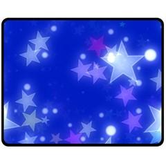 Star Bokeh Background Scrapbook Fleece Blanket (medium)