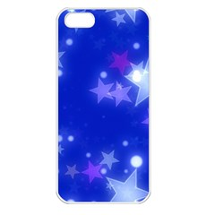 Star Bokeh Background Scrapbook Apple Iphone 5 Seamless Case (white)