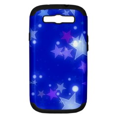 Star Bokeh Background Scrapbook Samsung Galaxy S III Hardshell Case (PC+Silicone)