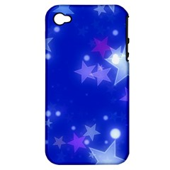 Star Bokeh Background Scrapbook Apple iPhone 4/4S Hardshell Case (PC+Silicone)